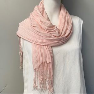 "🎈20% OFF SALE🎈""PalePeach & Silver Threads Scarf"""
